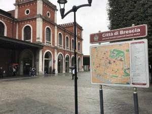 Train station in Brescia, Italy