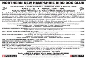Northern NH Bird Dog Club 2018 Annual Trial, Stark, NH