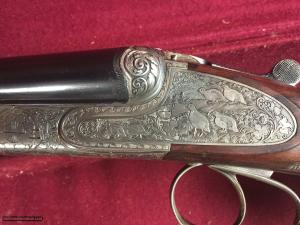 Heym 20 Gauge SxS Boxlock Game Gun. Pre-WWII Beautiful Full Engraving Excellent Condition