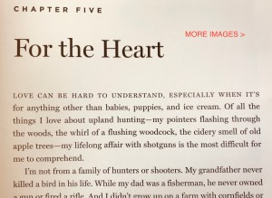 My essay in Project Upland: A Bird Hunting Anthology, Volume 1, No. 1