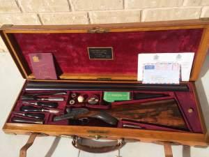 12 gauge James Purdey & Sons SxS shotgun with extra finish, 1920