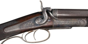Rare, Very Fine Cased Engraved J. Purdey 28 Bore Back Action Rotary Underlever Hammer Double Rifle with Accessories