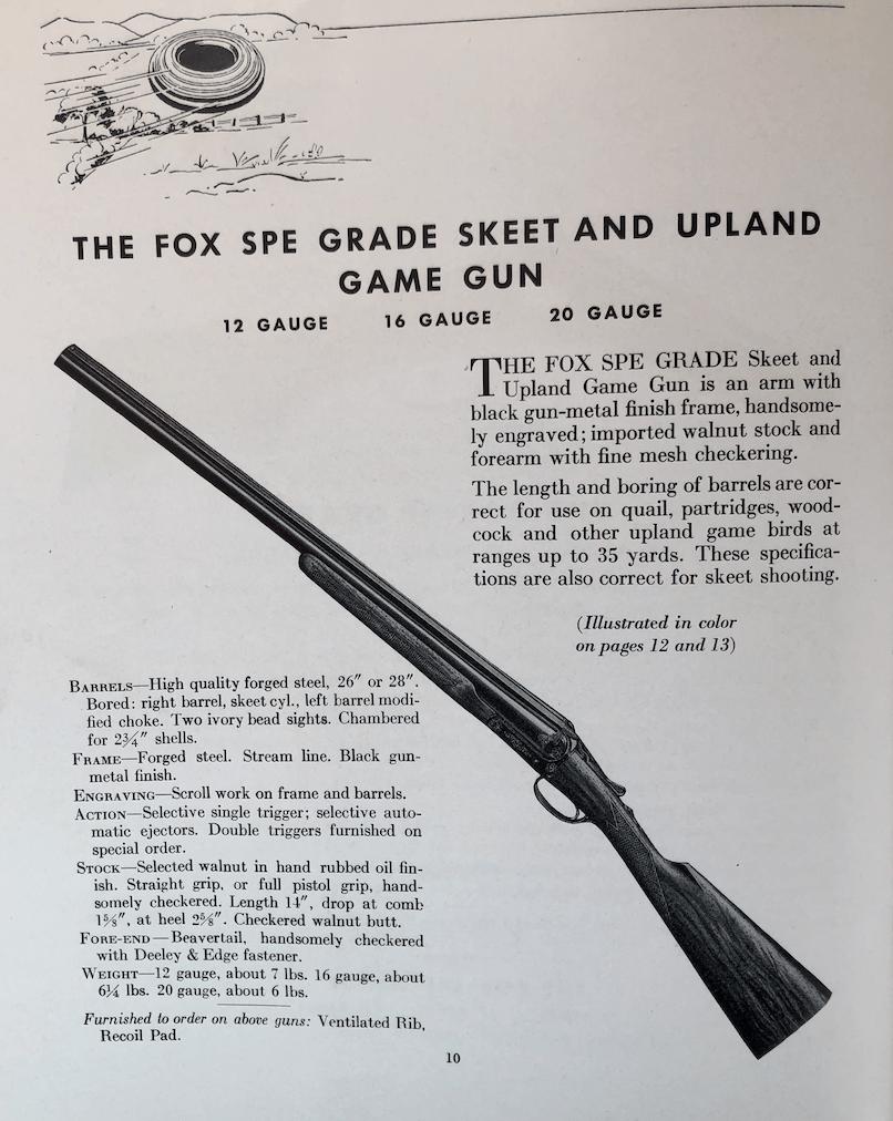 Rare gun alert: 16g A H  Fox SPE Skeet and Upland Game Gun