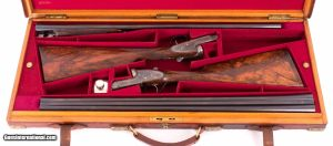 H.J. Hussey Shotguns - IMPERIAL GRADE PAIR, CASED, BOSS SINGLE TRIGGERS, vintage firearms inc