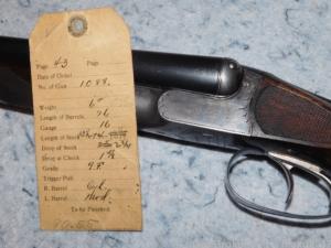 D.M. Lefever Sons 16 Ga 9F SxS double shotgun