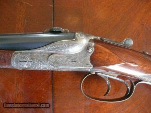 Excellent Pre-War JP Sauer ( Berlin) Clamshell Double Rifle in 9.3x74R