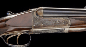 WESTLEY RICHARDS Deluxe Boxlock Ejector Nitro Express .240 HV Flanged NE Game Scene engraved Mfg 1934 AS NEW