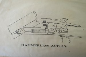 Schematics of the Sneider hammerless shotgun