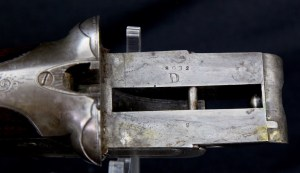 Extremely rare and fine Lefever D Grade 10 Bore Sidecocker with original Bernard Damascus barrels