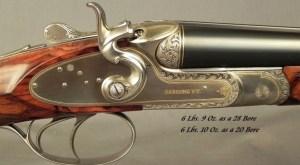 "SANDRO LUCCHINI 28 & 20 BORE SIDELOCK HAMMER GUN- BOTH Bbls. 29"" CHOPPER LUMP- MADE 2001- NEAR EXHIBITION WOOD- EXC. ENGRAVING- OVERALL 98%"