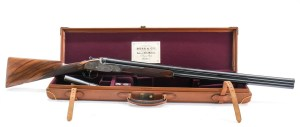 Lot #110: Boss & Co. Best O/U 12ga Sidelock Shotgun with Rising Bite Action