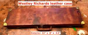 Vintage Westley Richards & Co leather shotgun case for a 20-gauge side-by-side --$1 START, NO RESERVE