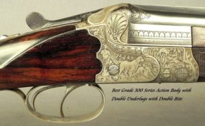 "KRIEGHOFF 20 BORE 1928 SUHL BEST GRADE O/U- 99% ENGRAVING w/ GAME SCENES- 30"" V R Bbls.- 100% ORIG. 1928 FINISH- BEST 300 SERIES ACTION-EXC. BORE"