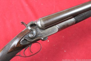W.W. Greener 8Ga Double Barrel SxS Hammer Shotgun BIG! NO RESERVE!
