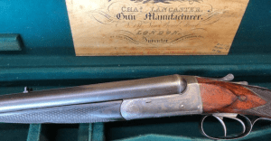 "Lancaster 500 3"" BPE boxlock SxS double rifle- cased"