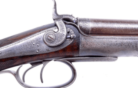 """""""SCARCE"""" James Purdey of London Double Rifle chambered in .450 BPE that was manufactured in 1868 for the 15th Duke of Norfolk"""