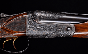 """Extraordinary early Parker A1 Special 12ga 2 barrel set- 30"""" and 34"""" - PGCA letter ordered by W.F. Parker! Deepest relief engraving I've ever seen"""