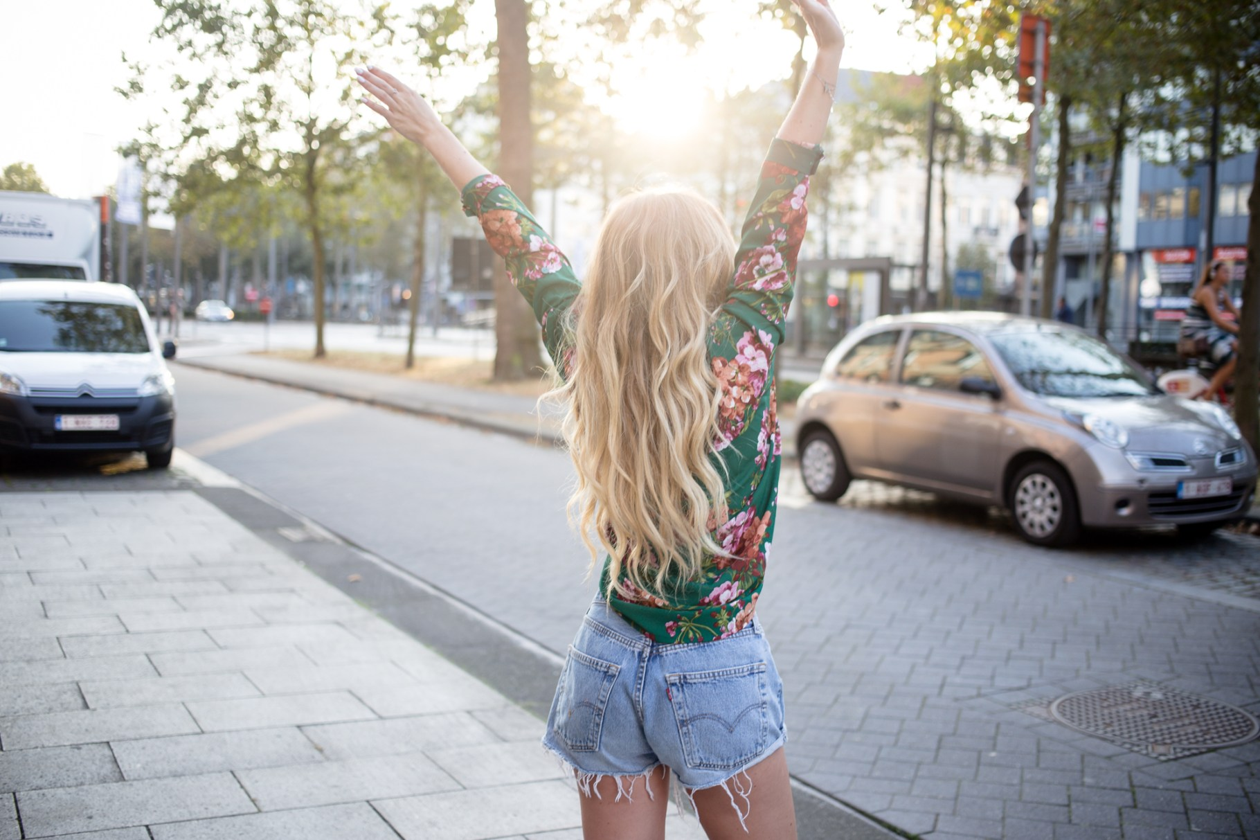 Gucci-inspired Floral Top + Vintage Levi's