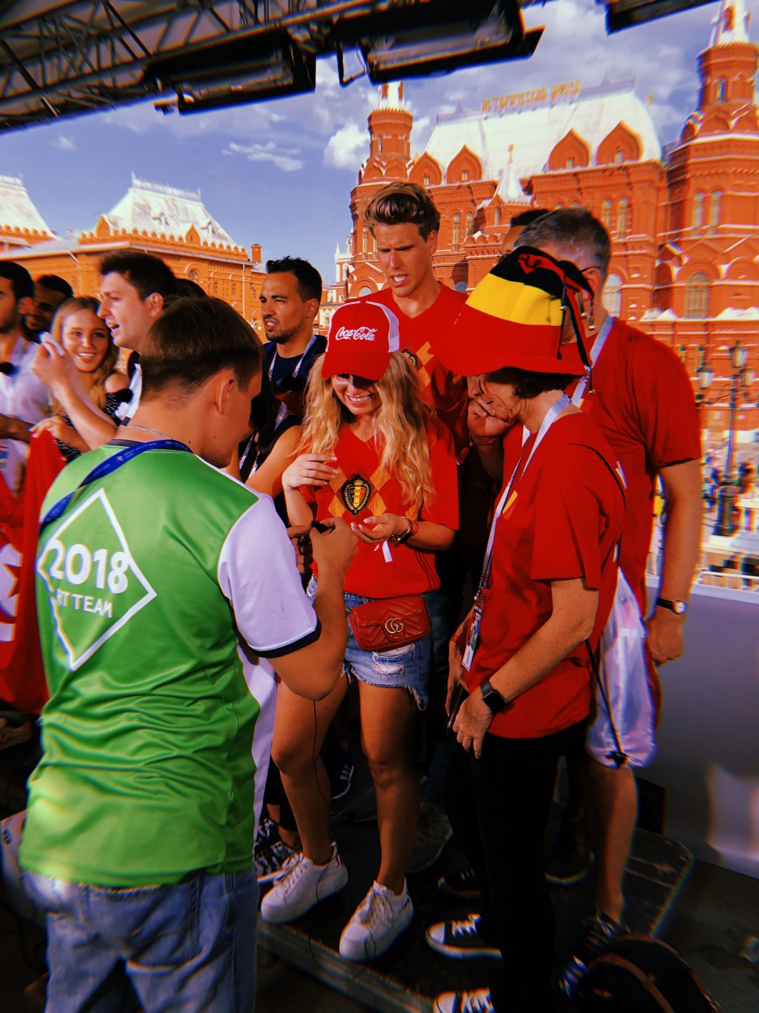 Visit to the red square after the game bel-tun in moscow