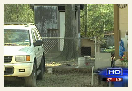 Conroe boy killed by chained pit bull