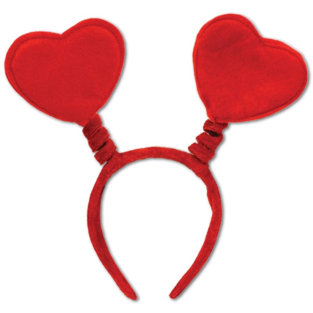 headband with hearts on it