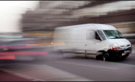 speeding van