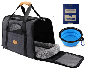 Dog travel kit and passport