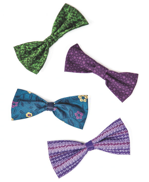 These dapper bow ties don't require sewing. (Photo by Gina Cioli/Lumina Media)