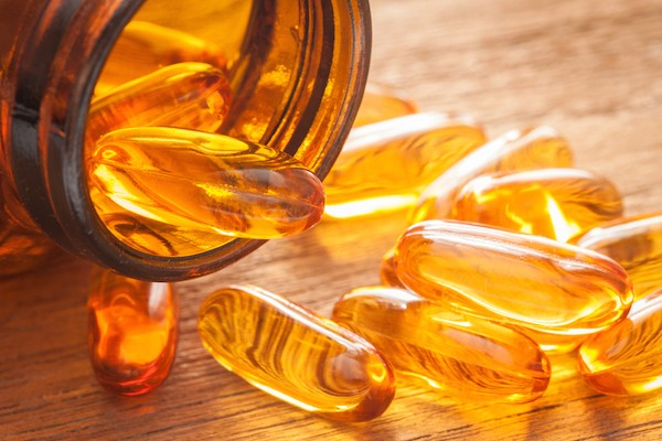 Fish oil capsules by Shutterstock.