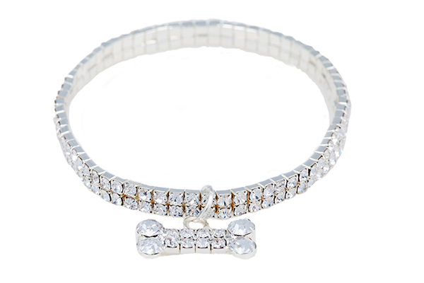Rhinestone Bling Necklace Dog Collar by Canine Styles.