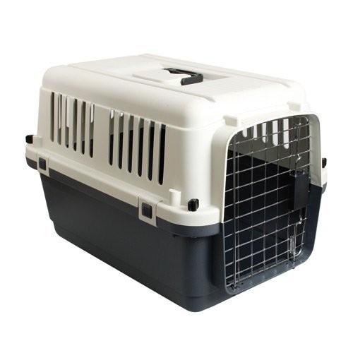 Caisse de transport pour chien bas de gamme.