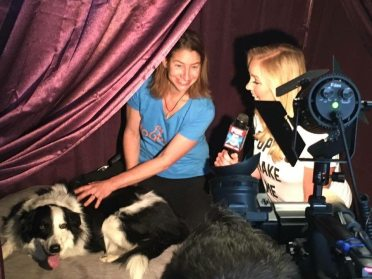 News CW6 in the Zen Room-dog massage!