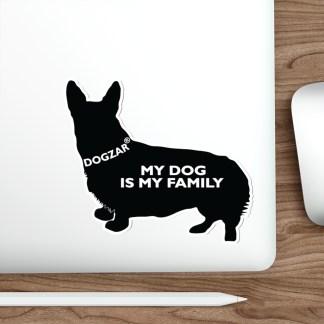 DOGZAR® My Dog is My Family Vinyl Sticker - Corgi