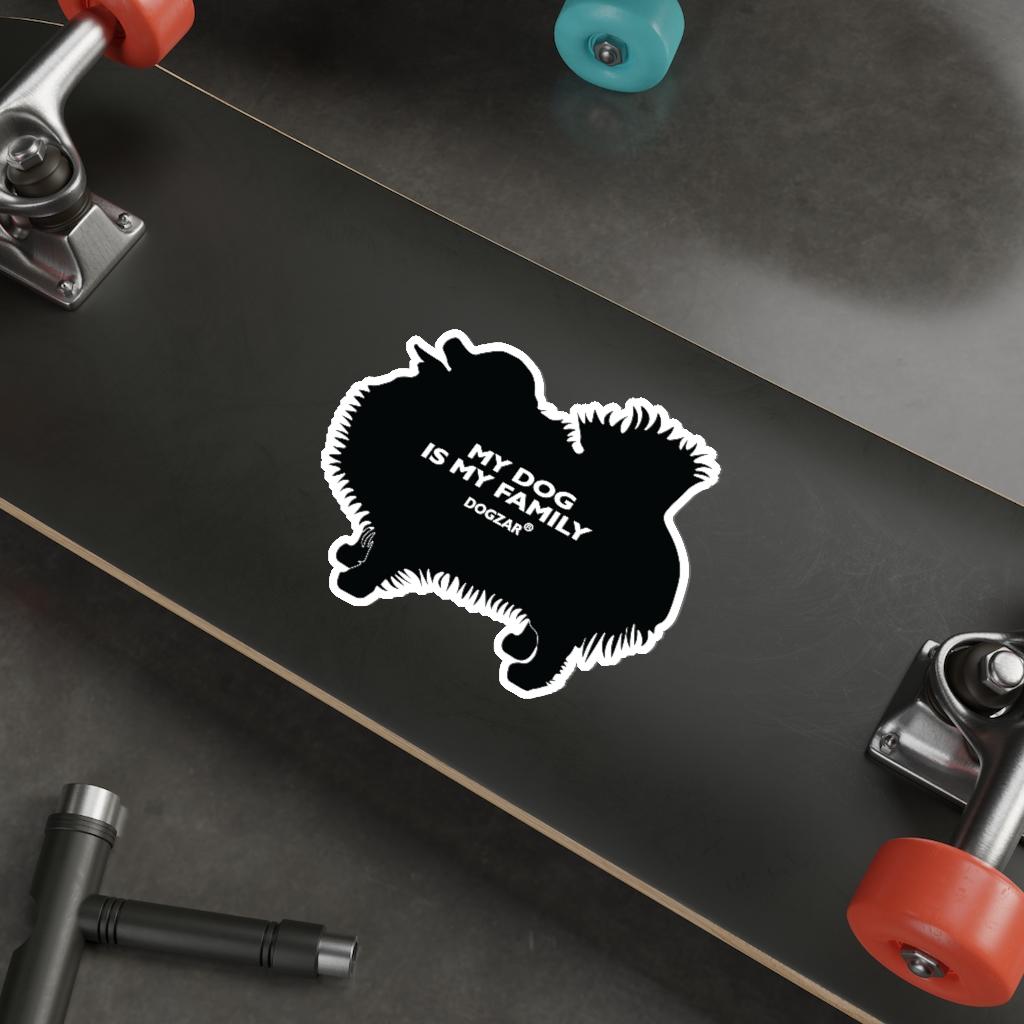 DOGZAR® My DOG is My Family Vinyl Sticker - Pomeranian