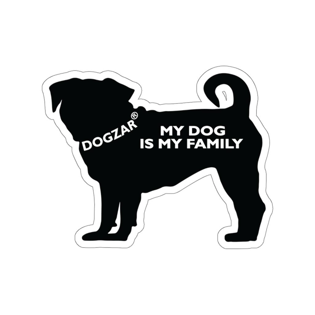 DOGZAR® My DOG is My Family Vinyl Sticker - Pug