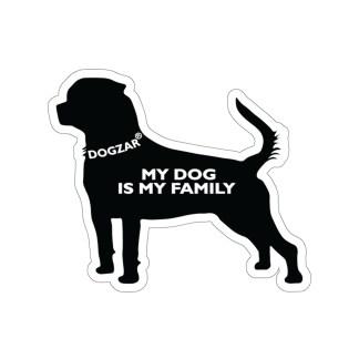 DOGZAR® My DOG is My Family Vinyl Sticker - Rottweiler