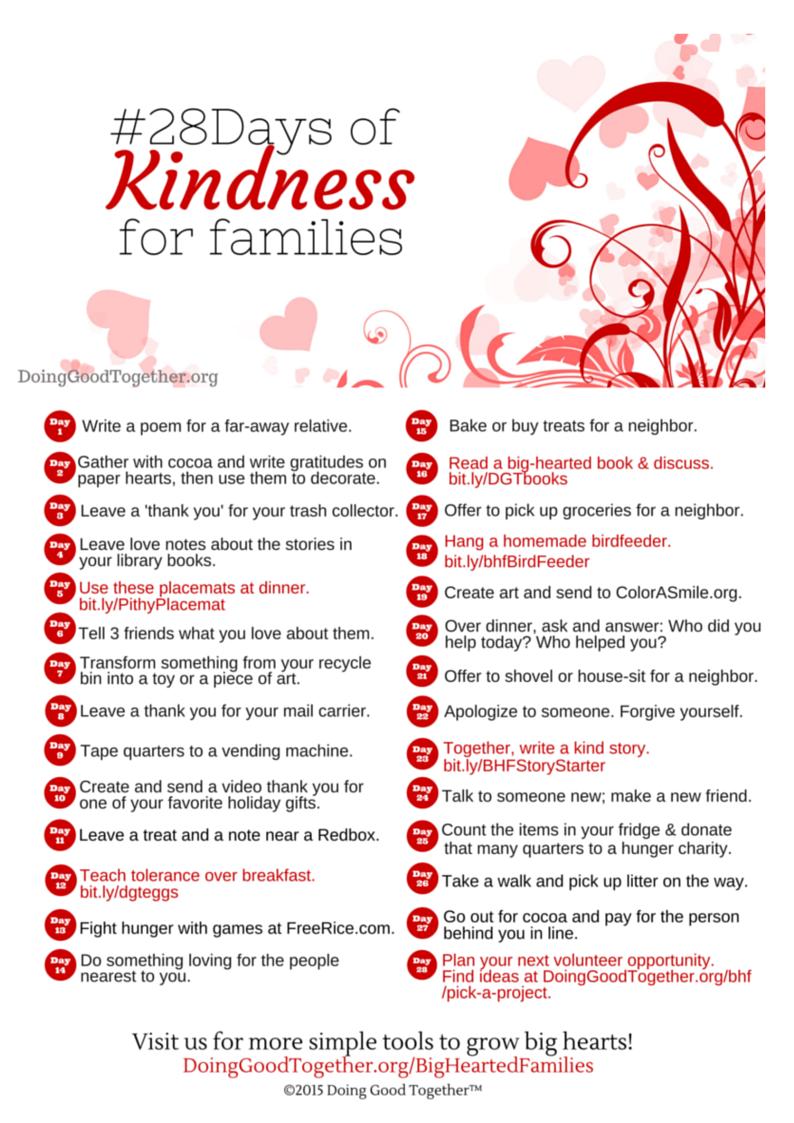 Valentine Kindness Challenge Doing Good Together