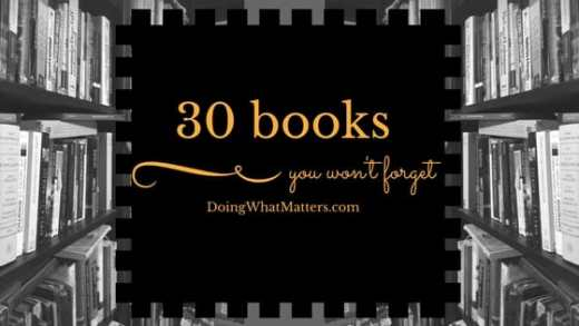30 books you won't forget.