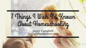 Seven things about homeschooling
