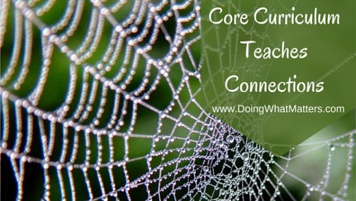 The core curriculum teaches connections.