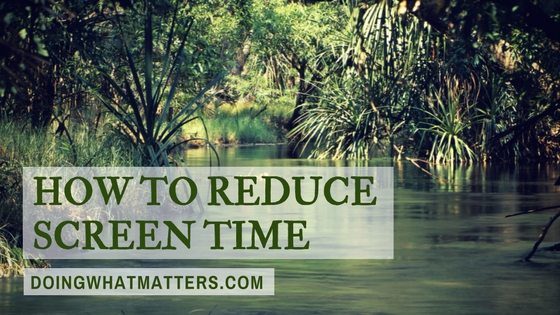 Charlotte Mason and Oliver DeMille have ideas to help you reduce screen time.