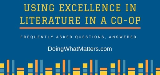 FAQ about using Excellence in Literature in a co-op or classroom.