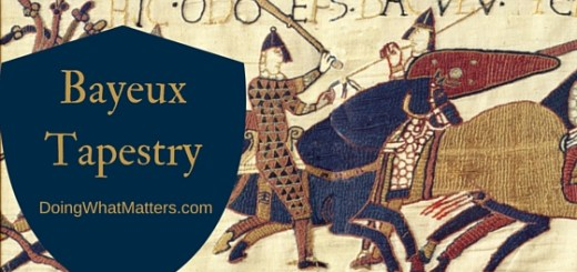 The Bayeux Tapestry is history told in embroidery.