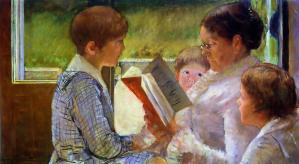 Reading together is one of the best homeschool memories. Painting by Mary Cassatt.