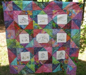 One of my summer break projects was a quilt for my granddaughter.