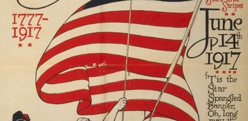 US Flag Day poster from 1917