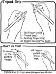 How to Hold a Pen or Pencil