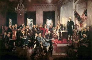 Scene at the Signing of the Constitution of the United States by Howard Chandler Christy