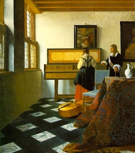 The Music Lesson by Jan Vermeer