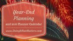 Year-End Planning and 2016 Planner Calendar